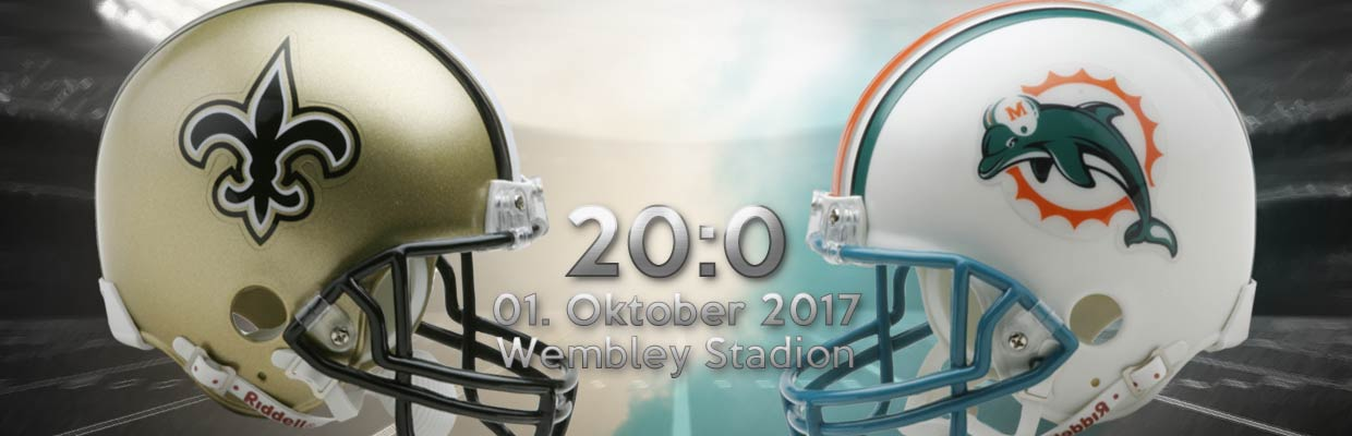 NFL London International Series New Orleans Saints vs Miami Dolphins Ergebnis