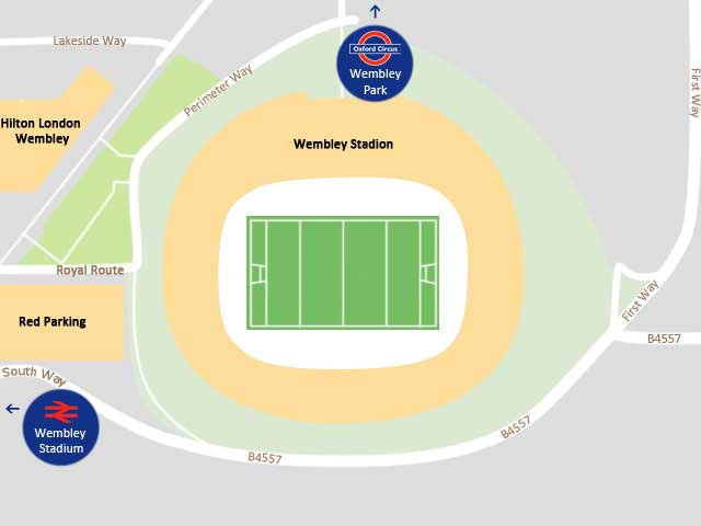 Wembley Stadion Anfahrt Karte Map NFL London