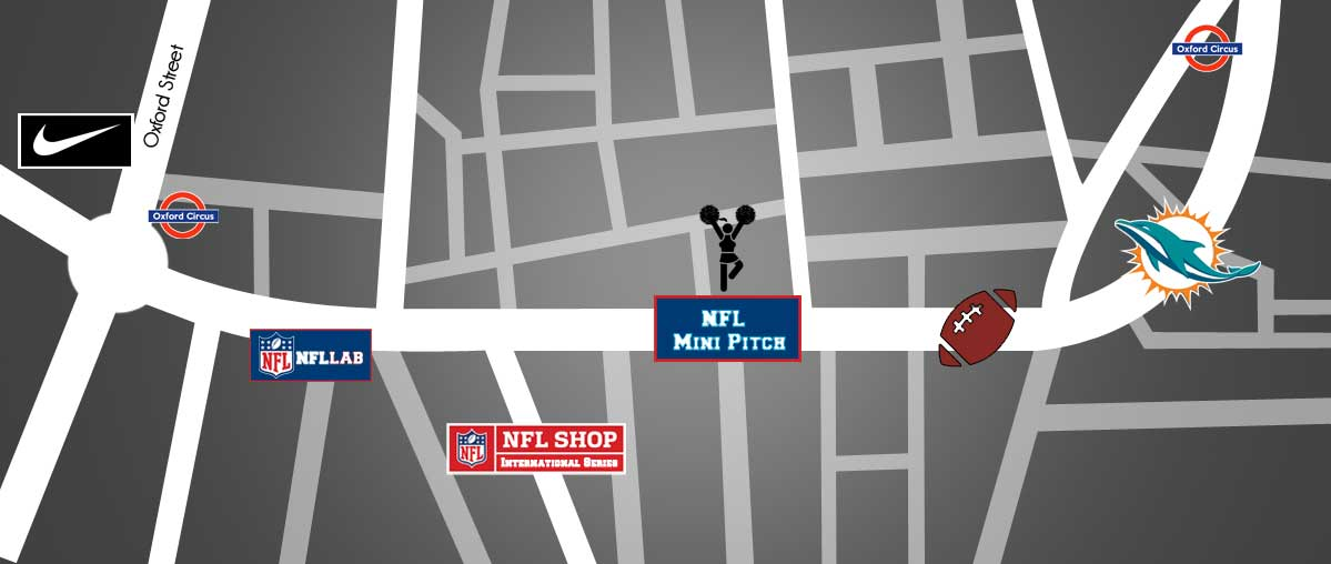 NFL London Regent Street 2017 map