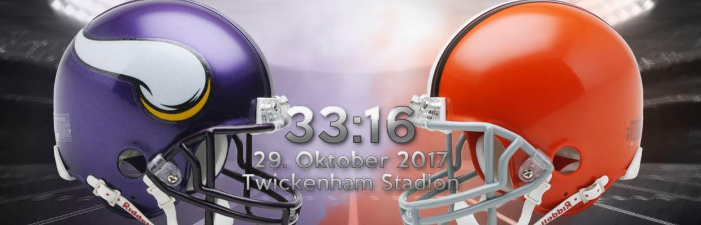 NFL London International Series Minnesota Vikings vs Cleveland Browns Ergebnis