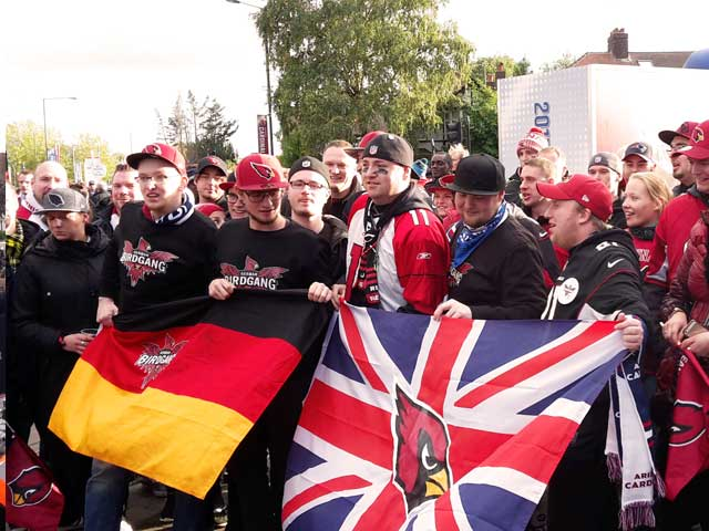 NFL London Tailgate Party Cardinals Fans