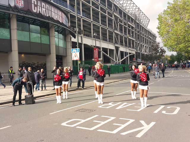 NFL London Tailgate Party Cheerleader