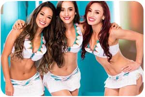 NFL London Rookies Guide Cheerleader Miami Dolphins 2016